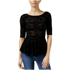 Free People Second Chance Stretchy Lace Peplum Top